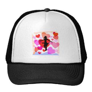 Hearts ballroom dancer trucker hat