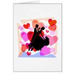 Hearts ballroom dancing card
