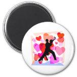 Hearts ballroom dancing fridge magnet