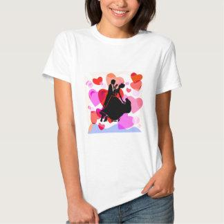 Hearts ballroom dancing shirt