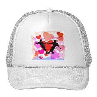 Hearts ballroom dancing trucker hat