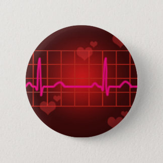 hearts beat round copy pinback button