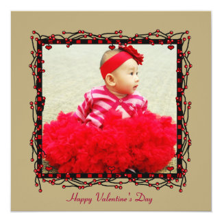 Hearts & Berries Photo Valentine's Day Card