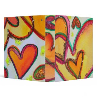 Laugh Hearts Note Book Binder