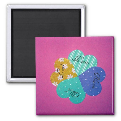 Hearts Blossom With Love! Fridge Magnet