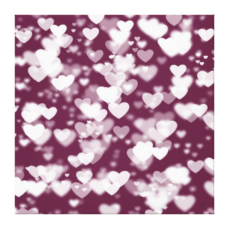 Hearts Bokeh Canvas Print