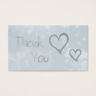 Hearts & Bokeh thank you Business Card