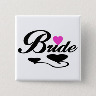 Hearts Bride T-shirts and Gifts Pinback Button