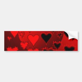 Hearts Bumper Sticker