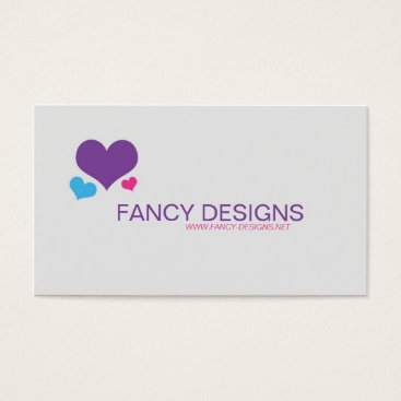 Professional Business Hearts Business Card