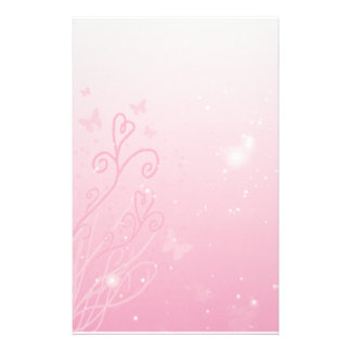 Hearts,  Butterflies n Stars Stationary Stationery