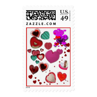 Hearts by the Pound Postage Stamp