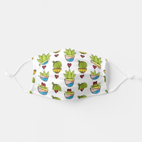 Hearts  Cactus Cloth Face Mask