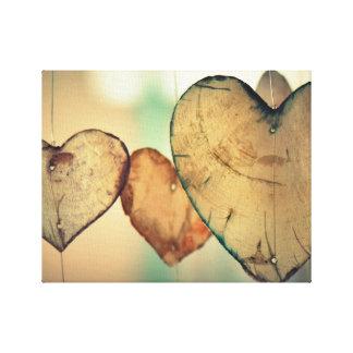 Hearts canvas