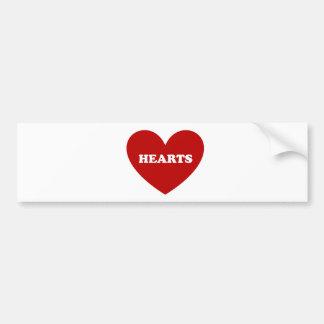 Hearts Car Bumper Sticker