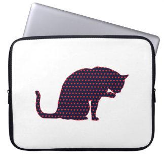 Hearts Cat Love Laptop Sleeve