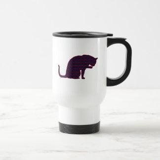 Hearts Cat Love Travel Mug