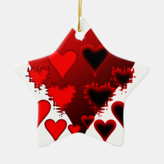 Hearts Ceramic Ornament