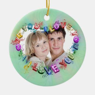 Hearts Ceramic Ornament