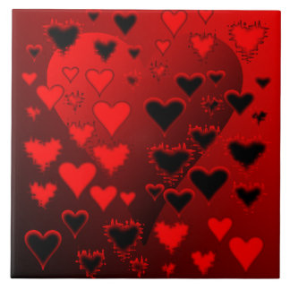 Hearts Ceramic Tile