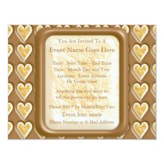 Hearts - Chocolate Marshmallow Card