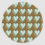 Hearts - Chocolate Mint Classic Round Sticker