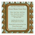 Hearts - Chocolate Mint 5.25x5.25 Square Paper Invitation Card