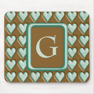 Hearts - Chocolate Mint Mouse Pad