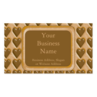 Hearts - Chocolate Peanut Butter Double-Sided Standard Business Cards (Pack Of 100)