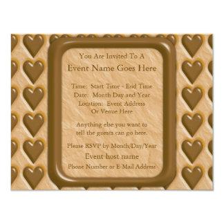 Hearts - Chocolate Peanut Butter Card