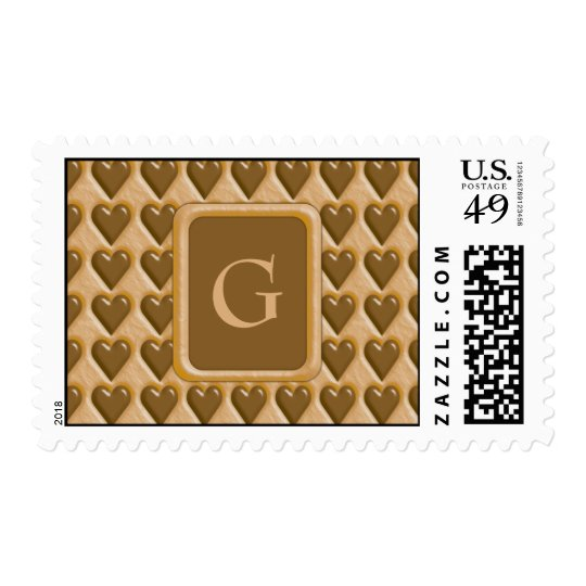 Hearts - Chocolate Peanut Butter Postage