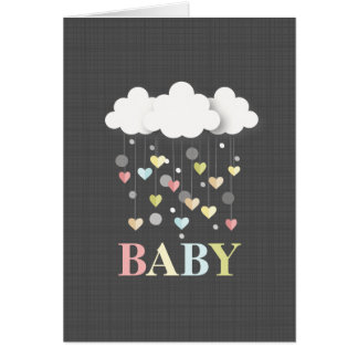 Hearts + Clouds Neutral Baby Card