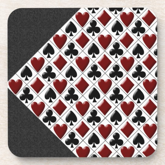 hearts clubs diamonds spades coasters