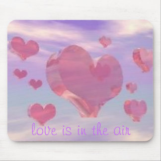 Hearts coeur, love is in the air mouse mats