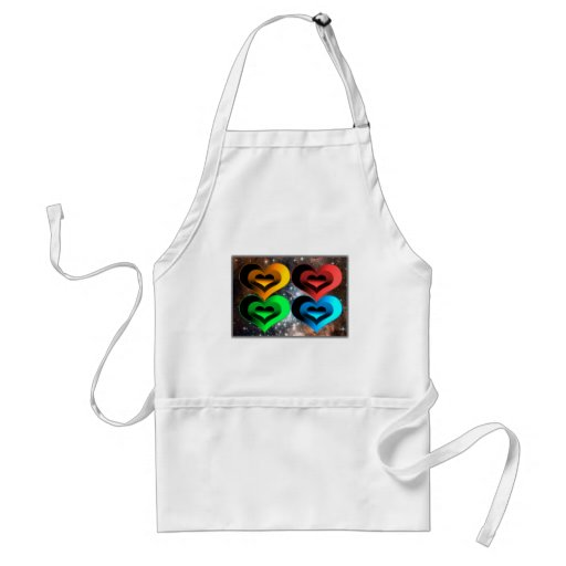 Hearts Collage-X Adult Apron