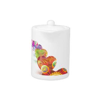 Hearts Colors Line Teapot
