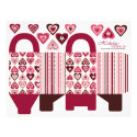 Hearts Confection Basket Box Template flyer