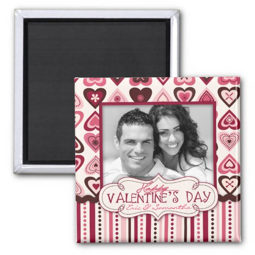 Hearts Confection Magnet Photo Square