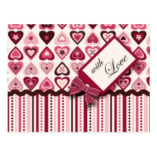 Hearts Confection Postcard