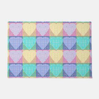 Hearts country quilt look doormat