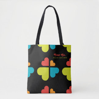 Hearts Cross Tote Bag