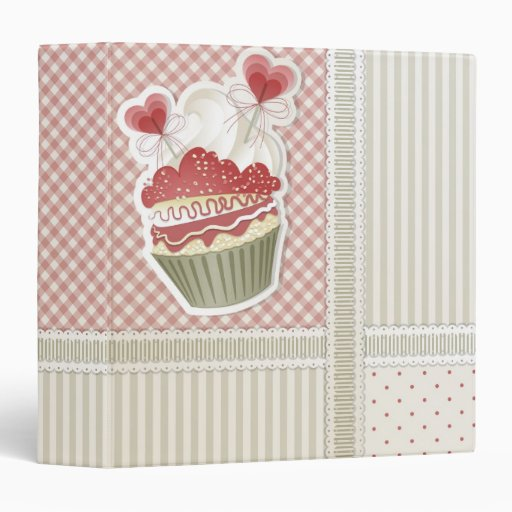 Hearts Cupcake Recipe Binder