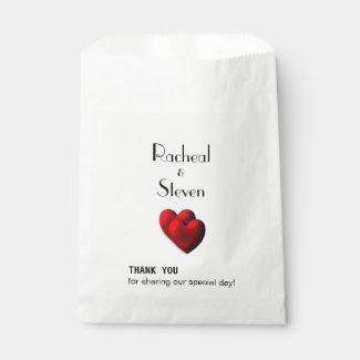 Hearts Custom Thank You Favor Bags