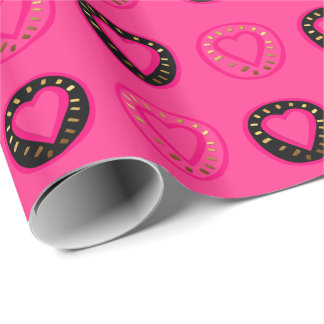 Hearts Customizable Valentine's Day Wrapping paper