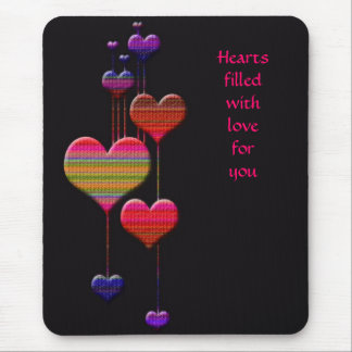 Hearts Dangle  Love - Any Day of the year Mouse Pad