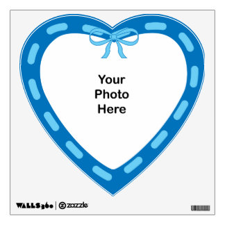 Hearts dark blue with light blue WALL DECAL