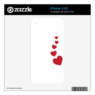 Hearts Decal For The iPhone 4S