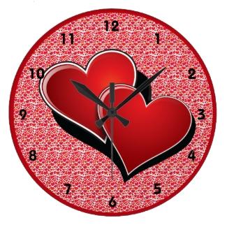 Hearts Design Clock