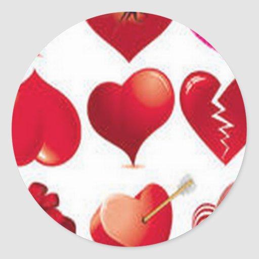Hearts design sticker
