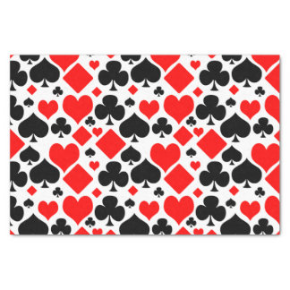Hearts, Diamonds, Clubs and Spades Pattern Design Tissue Paper